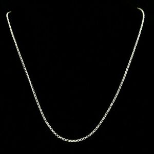 5 x Quality Silver Plate 2mm ROLO Necklace Chains  45cm Long Lobster Claw Clasp