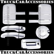 For CHEVY Silverado 2500/3500HD 2014 Chrome Covers Mirrors+2 Doors+Gas+Tailgate