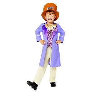 Childs Willy Wonka Boy Fancy Dress Costume Chocolate Factory Kids World Book Day