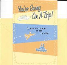 You're Going On A Trip - Bon Voyage - Hallmark Greeting Card