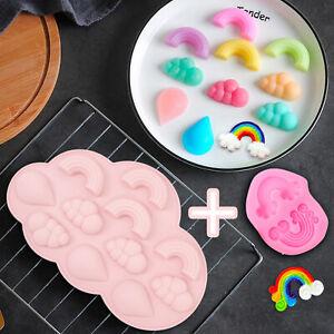 Rainbow Cloud Fondant Cake Silicone Mould Tool Sugarcraft Chocolate Baking Mold