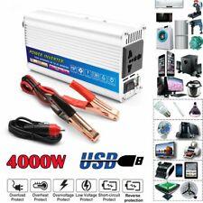 Car Power Inverter 4000W Peak DC 12V To AC 110V Sine Wave USB Converter Charger