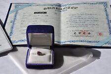 Platinum Ring Ruby & Diamond Size 6