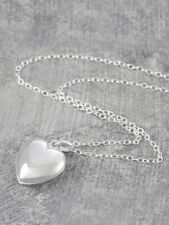 Sterling Silver Heart Locket 12mm Pendant. 40cm Necklace. Hallmarked. Otis Jaxon