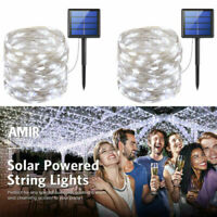 200 LED Solar Power Fairy Lights String Lamps Party Xmas Decor Garden Outdoor US