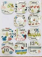 "Rosanna12 Days of Christmas Holiday Appetizer Dessert Plates 6 1/8"" 11 PCS"