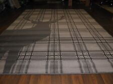 TOP QUALITY STAG RUGS 160CMX230CM APPROX 8X5FT BEST AROUND DARK GREY CHECKED
