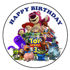 Toy Story Edible Icing Image Birthday Cake Topper Decoration Personalised