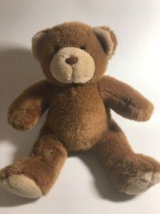 "Build a Bear Workshop 13"" LIGHT BROWN Tan BROWN NOSE Sitting TEDDY BEAR PLUSH"