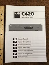NAD C420 Tuner Original Owners Manual approx 7 English Pages