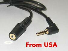 2X 6' 4-Pole 3.5mm Male Right Angle to 3.5mm Female Stereo Headphone Audio Cable