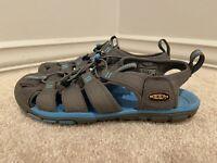 Keen Women's Sport Hiking Bungee Sandals Newport H2 Grey/Turquoise Size 7.5