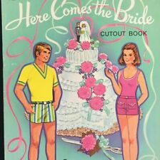 Lowe James and Jonathan Publishing Paper Dolls Here Comes the Bride Uncut