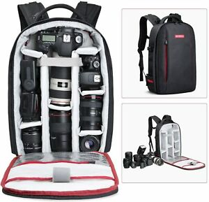 Beschoi Camera Backpack Bag Waterproof Large Capacity for Nikon Canon DSLR SLR