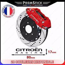 Kit 4 Stickers Etrier de Frein Citroen ref1; Auto voiture autocollant