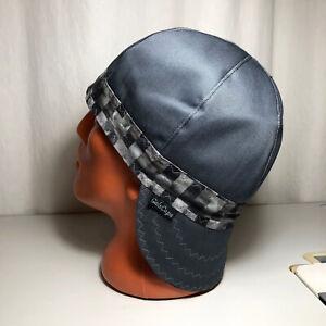 Y-01 Banded Square Gray/Black Welders, Pipefitters, Bikers, Welding Cap Hat.