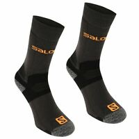 Salomon Mens Midweight 2 Pack Walking Socks Boot Mesh Arch Support