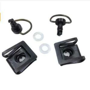 Black Turn Quick Release Fasteners Race Fairing Quick Bolts Screws For Harley