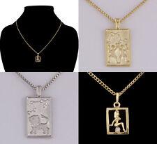 Markenlose Modeschmuck-Halsketten & -Anhänger aus Strass und Metall-Legierung