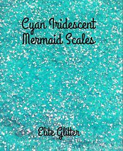 Nail Art Glitter Blue Cyan Mermaid Scales Iridescent Hexagon Shape 5g/10g