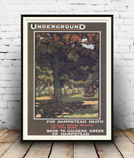 For Hampstead Heath : Old Travel Poster reproduction