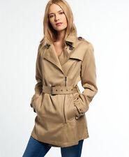 Neue Damen Superdry Jacke Draped Trenchcoat Stone