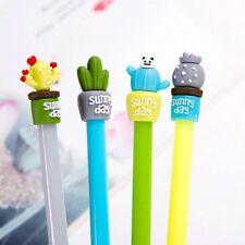 2pcs/lot Novelty Strong Cactus Plant Gel Pen Ink Marker Pen School Office Supply