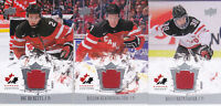 15-16 Team Canada Juniors Dillon Heatherington Jersey Upper Deck 2015