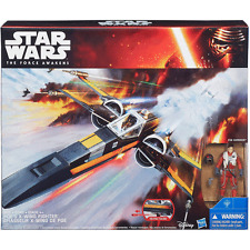 Star wars poe dameron + x-wing star fighter action figures et navire