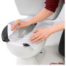 20 Flushable Disposable Hygienic Toilet Seat Cover Splashguard Camping Festival