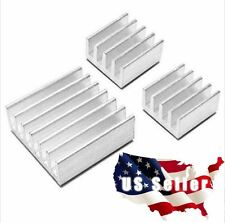 1 Set(3pcs) Aluminum Heatsink Cooling Raspberry Pi All Versions Adhesive incl!