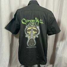 Cypress Hill Elephants On Acid Men's Large Button Up Work Shirt Weed B-Real Dope