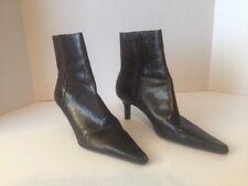 Ralph Lauren Womens Brown Leather Boots 9B