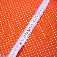Baumwollstoff Patchwork Punkte Orange auf Weiß - 100% Baumwolle Sommerkleid