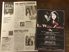 The WHITE STRIPES Japan 2003/2006 flyer mini-poster x2 MINT live concert rare