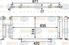 8FC 351 303-791 HELLA Condenser  air conditioning