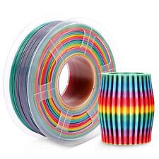 Beliveer 3D-Drucker Filament 1,75 mm 1 kg/2,2 lbs PLA Kohlefaser Regenbogenfarbe