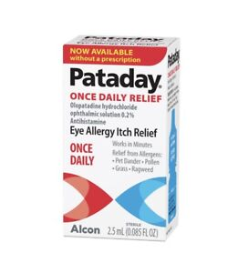 Pataday Once Daily Eye Allergy Itch Relief Eye Drops 2.5ml