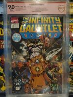 The Infinity Gauntlet #1 - CBCS SS 9.0 - Signed by George Perez