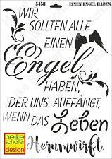 Schablone-Stencil A3 427-5458 Einen Engel haben... -Neu- Heike Schäfer Design