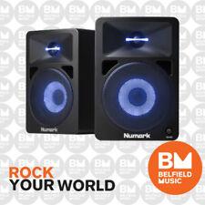 Numark N-Wave 580L Powered Monitor Speakers w/ Reactive Lights Active DJ NWAVE