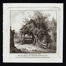 NEAR BULL'S CROSS, ENFIELD 1797 John Thomas Smith ANTIQUE ETCHING