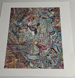 Geometries Feline Guillaume Azoulay Jungle Cat Lion Giclee Art Print COA s/n 25