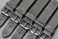Handmade Watch Strap Genuine Leather Corner Stitch 18mm-22mm Antique Marble