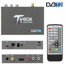 Car Digital DVB-T2 DVB-T Freeview TV Receiver Tuner Box High Speed MPEG USB PVR