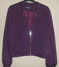 BNWOT Miss Selfridge Bomber Jacket - Purple - Size 14