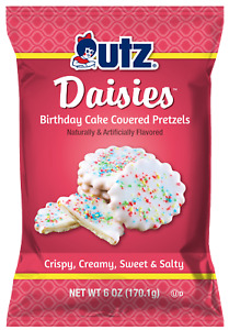 Utz Quality Foods Daisies Birthday Cake Covered Pretzels, 6 oz. (170.1g) Bags