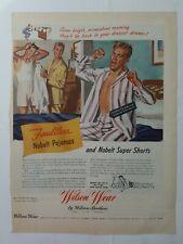 1945 Wilson Wear Brothers mens  pajamas underwear bedroom vintage fashion ad