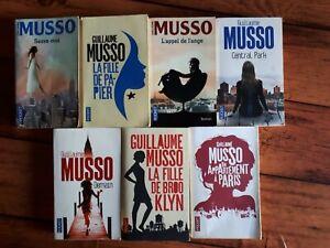 LOT de 7 Livres Romans Guillaume MUSSO - Poche - Editions Pocket