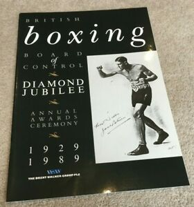 1989 BBBC Diamond Jubilee Ceremony publication HAND SIGNED Bruno, Cooper etc